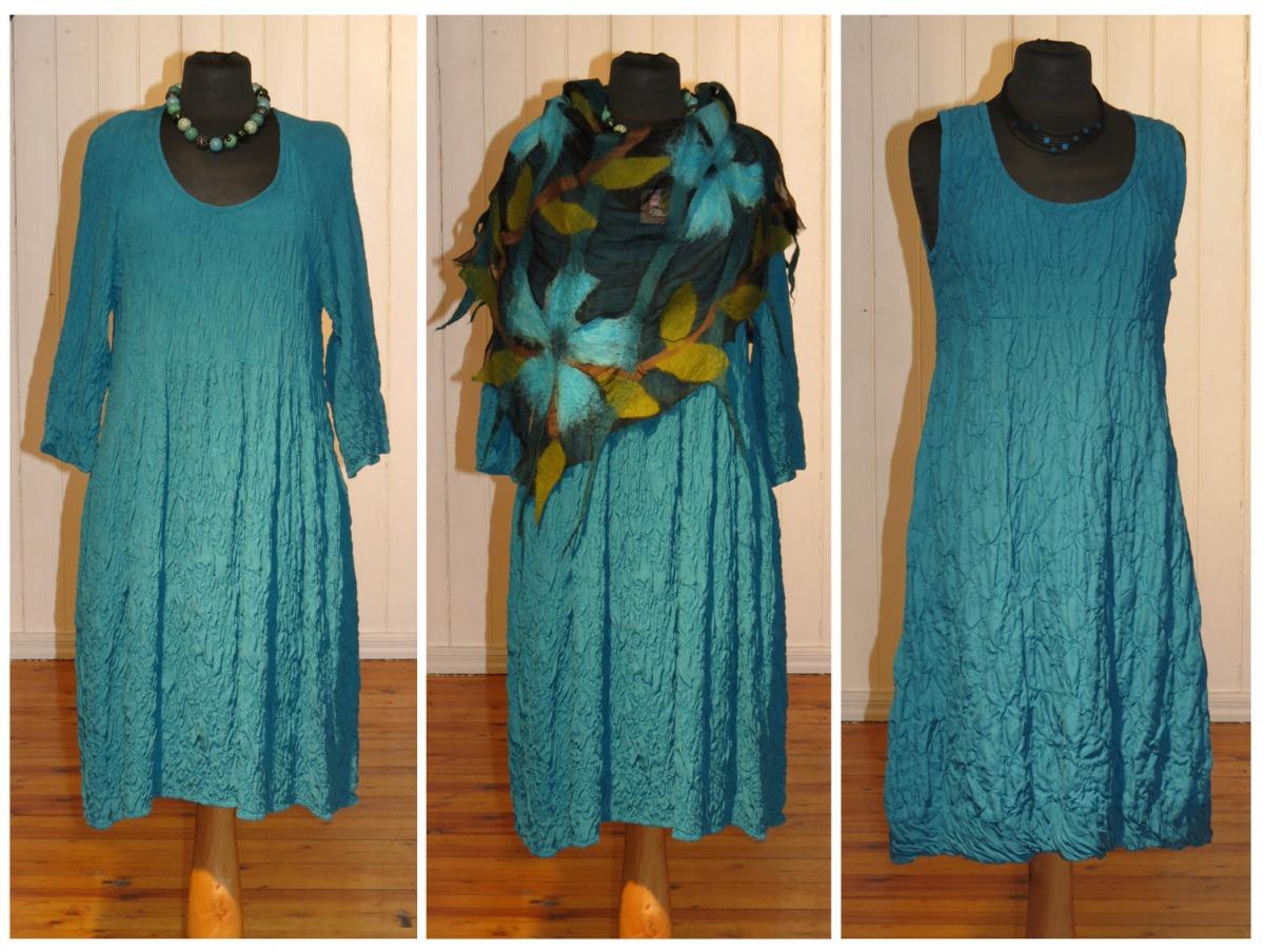 Трикотажное платье с ярусной юбкой 37